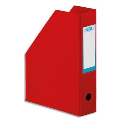 Porte-revues Elba - en PVC soudé - 32 x 24 cm - dos de 7 cm - livré à plat - rouge