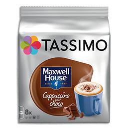 Café Tassimo Maxwell House Cappuccino - goût chocolat - sachet de 8 doses (photo)