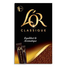 Café soluble lyophilisé L'Or Arabica au goût équilibré et aromatique - 144 g - boîte distributrice de 80 stics (photo)