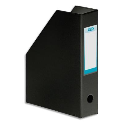 Porte-revues Elba - en PVC soudé - 32 x 24 cm - dos de 7 cm - livré à plat - noir