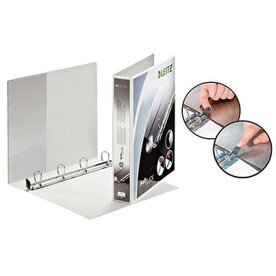 Classeur personnalisable 2 faces Soft Click - 4 anneaux - dos 5 cm - blanc