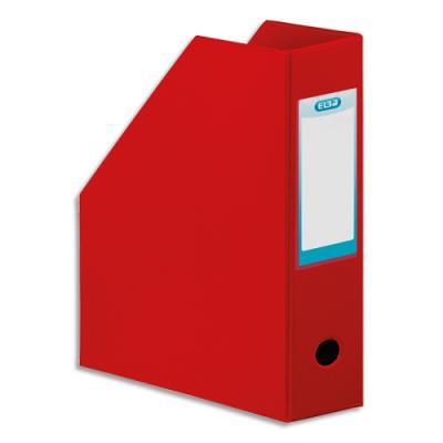 Porte-revues Elba - en PVC soudé - 32 x 24 cm - dos de 10 cm - livré à plat - rouge