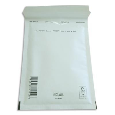 Pochettes à bulles d'air Airpro en Kraft blanc - fermeture auto-adhésive - 15 x 21,5 cm - paquet de 10 (photo)