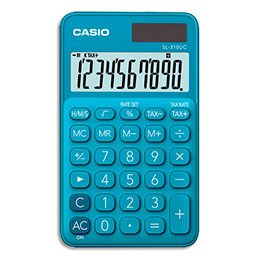 Calculatrice de poche Casio - 10 chiffres - bleue (photo)