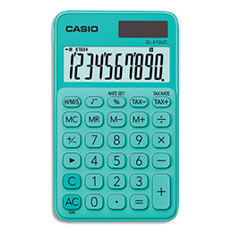 Calculatrice de poche Casio - 10 chiffres - verte (photo)