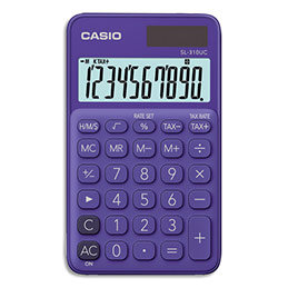 Calculatrice de poche Casio - 10 chiffres - violette (photo)