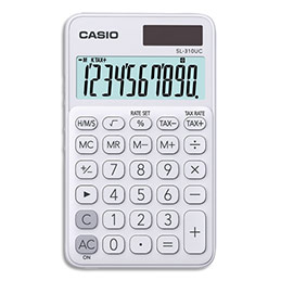 Calculatrice de poche Casio - 10 chiffres - blanche (photo)