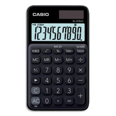 Calculatrice de poche Casio -  10 chiffres - noire