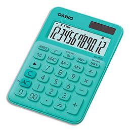 Calculatrice de bureau Casio - 12 chiffres - verte (photo)