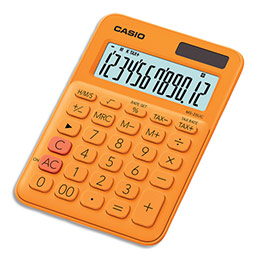 Calculatrice de bureau Casio - 12 chiffres - orange (photo)