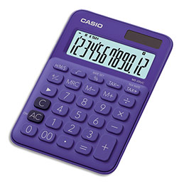 Calculatrice de bureau Casio - 12 chiffres - violette (photo)