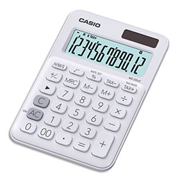 Calculatrice de bureau Casio - 12 chiffres - blanche (photo)