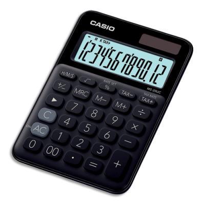Calculatrice de bureau Casio - 12 chiffres - noire