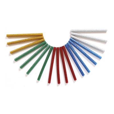Bâtons de colle pour pistolet - diamètre 7 mm, longueur 10 cm - pailletés - sachet de 25 (photo)