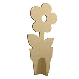 Atelier pour 10 enfants - fleurs 3D en bois à décorer avec des cristaux de pierre nacrés et thermomètre (photo)