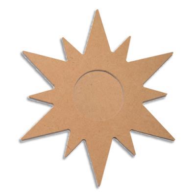 Etoiles en bois à décorer de 14cm - chaque étoile est composée de 2 parties à superposer - lot de 10