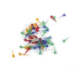 Sachet de 500 épingles en plastique - couleurs assorties - pour tableau fil ou styropor (photo)