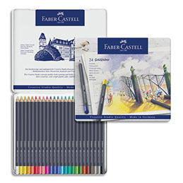 Crayons de couleur Faber Castel Goldfaber - coloris assortis - étui de 24 (photo)