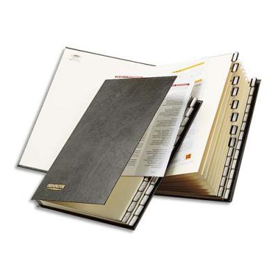 Trieur alphabétique Claircell - plastifié - 26 compartiments - format 25 x 33 cm - dos à soufflets - (photo)