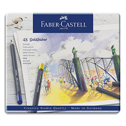 Crayons de couleur Faber Castel Goldfaber - coloris assortis - étui de 48 (photo)