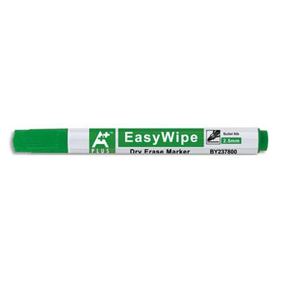 Marqueur effaçable à sec 1er prix - pour tableaux blancs - corps plastique - pointe ogive - encre verte