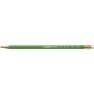 Crayon graphite GreenGraph 6004 Stabilo - mine HB - corps hexagonal vert - paquet 12 unités