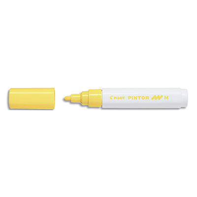 Marqueur peinture Pilot Pintor - pointe moyenne - jaune