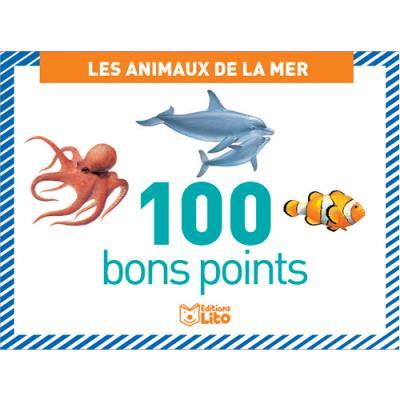 Boîte de 100 bons points - thème les animaux de la mer (photo)