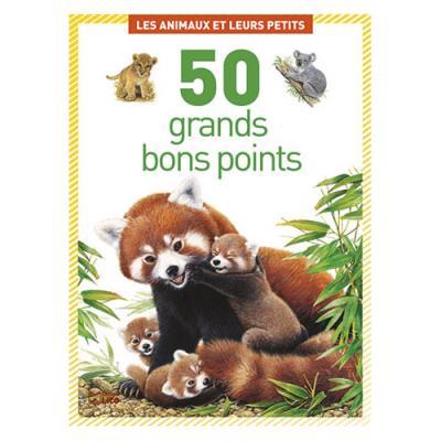 Boîte de 50 grandes image - thème les animaux et leurs petits (photo)