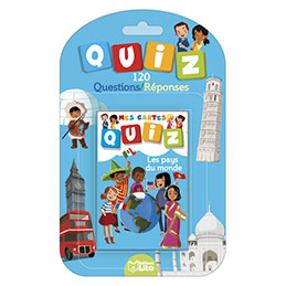 Jeu de cartes Quizz 120 questions réponses - thème les pays du monde (photo)