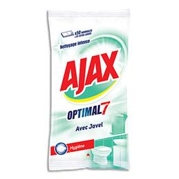 Lingettes Ajax Optimal7 - hygiène avec javel - nettoyage intense - paquet de 50 (photo)