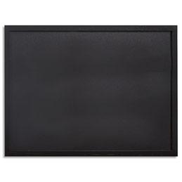 Ardoise murale Securit Woody - cadre en bois noir - livré avec un feutre craie blanc - L60 x H80 cm (photo)