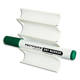 Porte 4 marqueurs horizontal Vanerum - en plastique magnétique - L10,5 x H7,5 x P2 cm (photo)