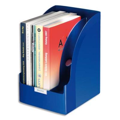 Porte-revues grande capacité Decorack Plus - dos 21 cm - bleu