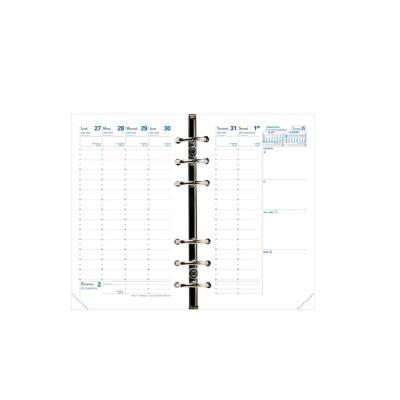 Recharge pour agenda timer 17 Quo Vadis - a la verticale - papier blanc