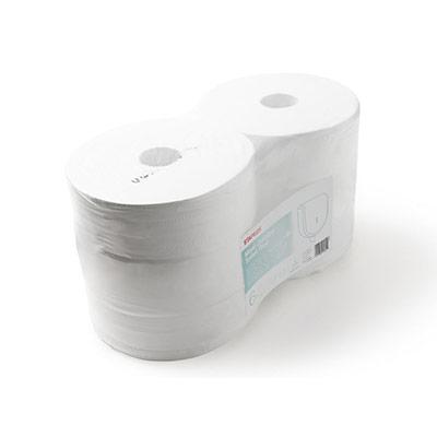 Bobine de papier toilette Ultra Soft Jumbo - double épaisseur - 1 114 feuilles - 90 mm - blanc - paquet 6 x 339,8 mètres (photo)