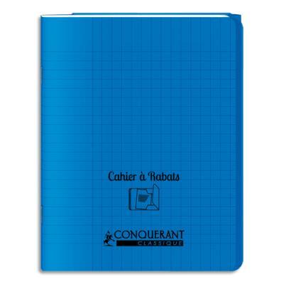 Cahier oxford 17x22 48 pages 90g seyès couverture polypro bleue avec rabat