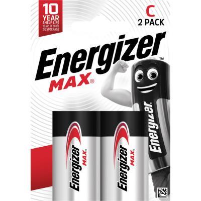 Piles LR14 type C Energizer Max - blister de 2 piles