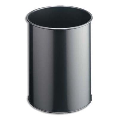 Corbeille à papier Durable corps en métal - dimensions : Ø 26 x H 31,5 cm (photo)
