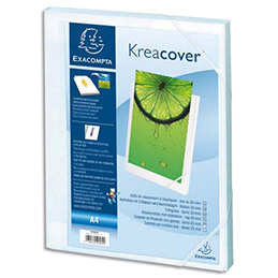 Boîte de classement personnalisable Exacompta Kreacover - dos 25 mm - A4 - polypropylène - blanc