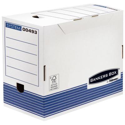 Boîte à archives en carton recyclé Fellowes System - dos 20 cm - montage automatique