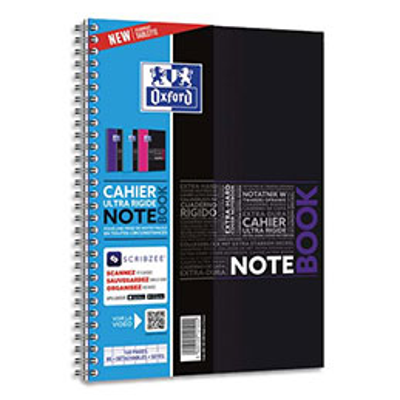 Cahier Oxford Notebook - B5 - 160 pages - seyès - carte rembordée rigide