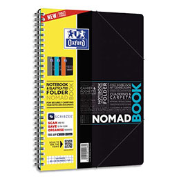 Cahier Oxford Nomadbook - B5 - 160 pages - 5x5 - couverture polypropylène