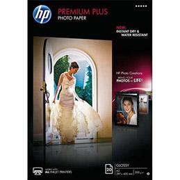 Papier photo Premium Plus HP CR675A - A3 - 300 g - finition brillant - boîte de 20 feuilles (photo)