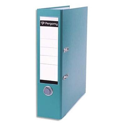 Classeur à levier Pergamy - en polypropylène extérieur/intérieur papier - dos 8 cm - vert