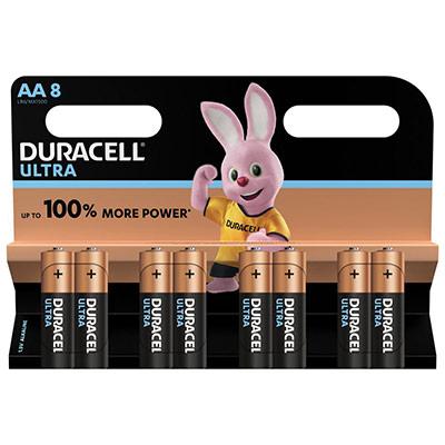 Piles AA - LR06 - Alcaline par 8 - 1.5V - Duracell Ultra Power (photo)