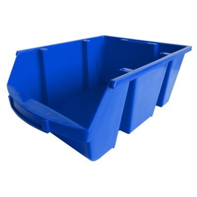 Bac à bec en plastique - 28 L - porte étiquette - polypropylène bleu - L30,5xH17,5xP46 cm