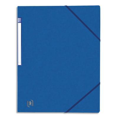Chemise simple à élastique Topfile - carte lustrée 5/10e - bleu