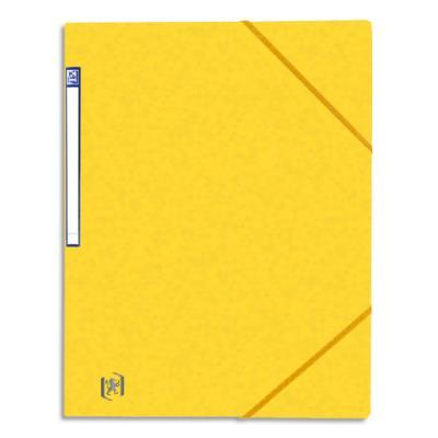 Chemise simple à élastique Topfile - carte lustrée 5/10e - jaune