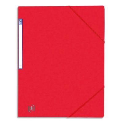 Chemise simple à élastique Topfile - carte lustrée 5/10e - rouge